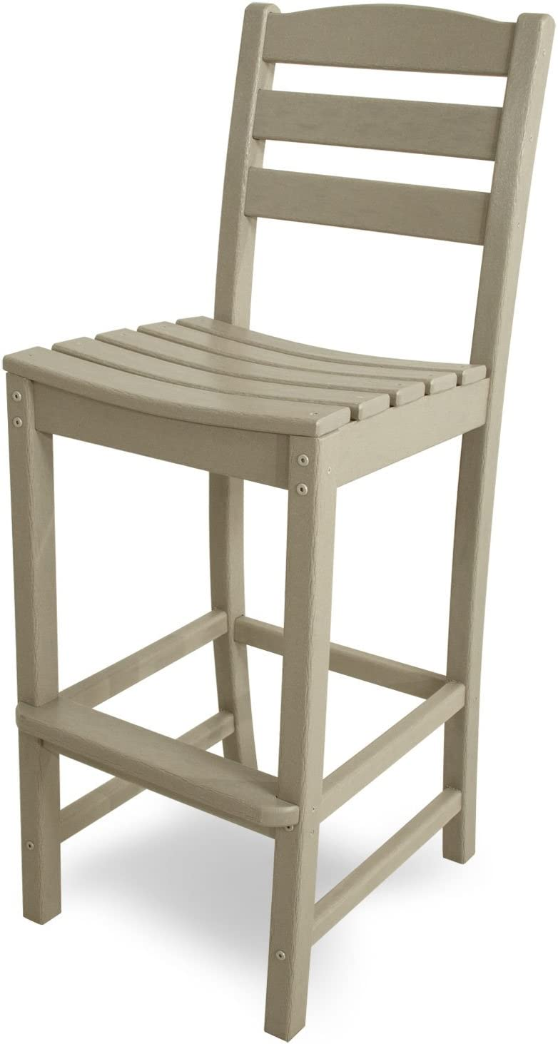POLYWOOD TD102SA La Casa Caf Bar Side Chair, Sand