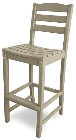 POLYWOOD TD102SA La Casa Caf Bar Side Chair, Sand