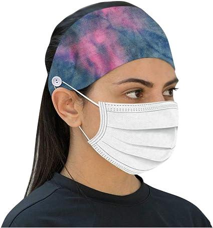 Hair Accessories Women Men Headwrap Sweatband Mousmile 90sMuse Stretch Button Headbands for Nurse Yoga Sports Workout