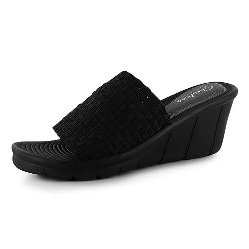 100% de satisfacción nueva especiales precio limitado Skechers Promenade Mujer Wedges Sandalias cuña Chanclas ...