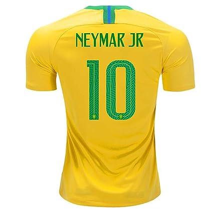 881d942b74938 Amazon.com : Mu Dou Zhi Neng Brazil #10 JR Neymar National Team Home ...