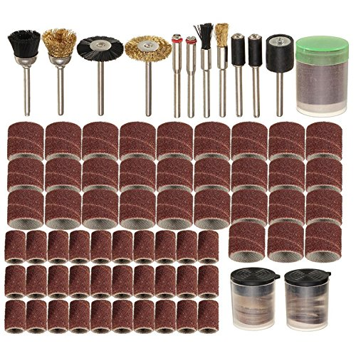 "150 Pieces Set Rotary Power Tool Fits for Dremel 1/8"" Shank Sanding Polish Accessory Bit Set"