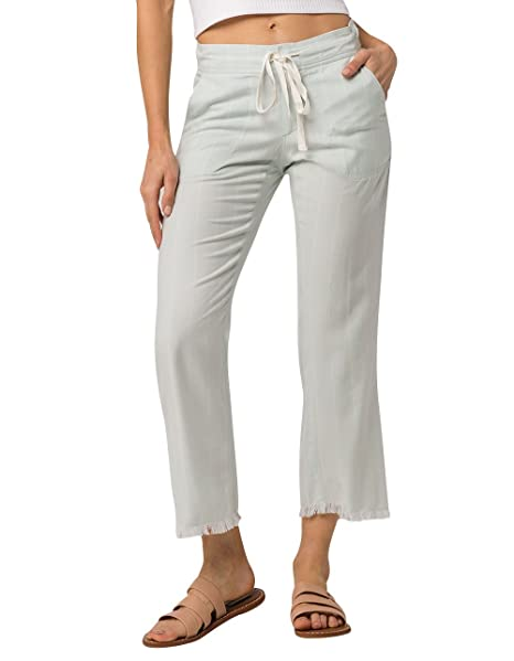 5bc92ac5d40 Billabong Women s Casual Fling Crop Pant Crystal Blue Small  Amazon.ca   Clothing   Accessories