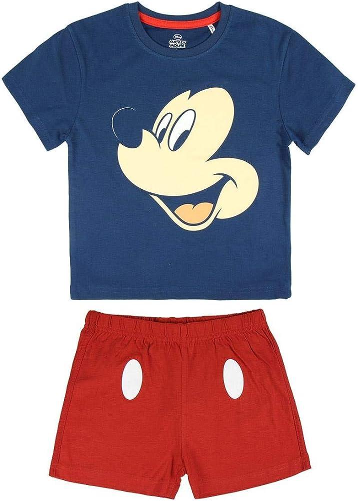 Disney Mickey Mouse Pijama Niño Verano, Pijamas Niños Cortos, Ropa Niño 100% Algodon, Conjunto Niño Verano Camiseta Manga Corta y Short, Regalos para Niños Niñas 1-6 Años (1-2 años): Amazon.es: Ropa y accesorios