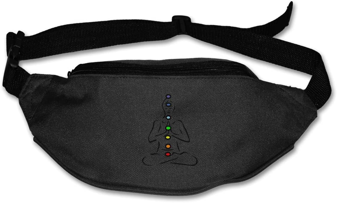 Waist Bag Fanny Pack Seven Chakra Pouch Running Belt Travel Pocket Outdoor Sports