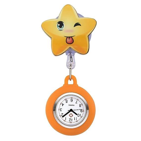 jsdde Enfermera Reloj Pulso Reloj Nurse Watch Bata Reloj Silicona Dibujos Animados Reloj de Bolsillo Enfermera con Clip # 5: Amazon.es: Relojes