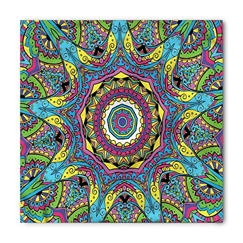(Ambesonne Psychedelic Bandana, Abstract Hippie Forms, Unisex Head and Neck Tie)