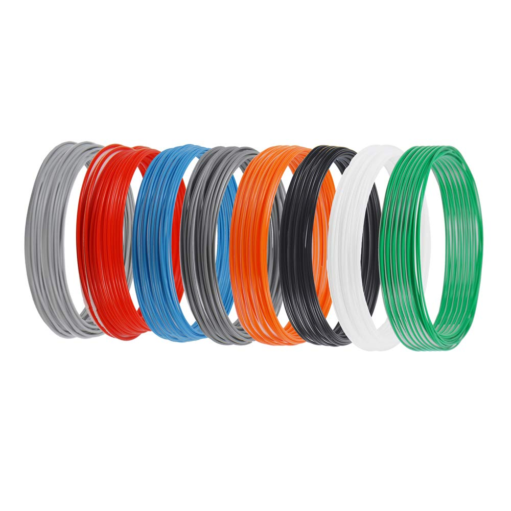 ERYONE Filament PLA 1.75mm, Filament PLA, 8 Colors, 3D Printing Filament PLA for 3D printer, 0.2kg 1 Spool