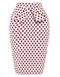 GRACE KARIN Slim Vintage Pencil Skirts for Women Cotton Floral CL008928