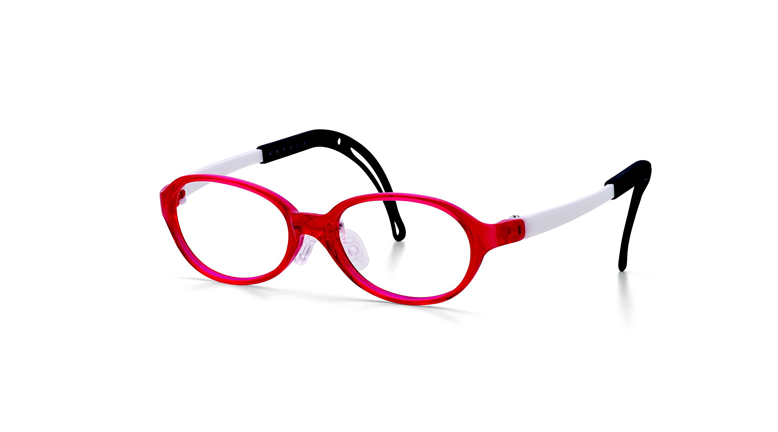 Eyeglass Frames for Kids, TKAC15-40, Red, Light Weight, Comfortable Material, Highly Durable, Flexible, with Adjustable Nose Pad & Ear Tip, Shape intelligence and Resilience, TKAC14-45