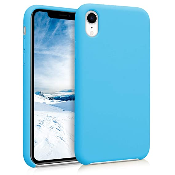 quality design f22e5 4c9a9 kwmobile TPU Silicone Case for Apple iPhone XR - Soft Flexible Rubber  Protective Cover - Light Blue
