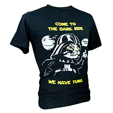 """9fbf04e2 Tee Adult Unisex Star Wars """"Come To The Dark Side"""" Cat Funny T"""