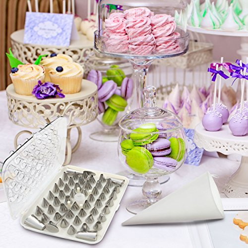 Professional Cake Decorating Bags : BakeLux Cake Decorating Tips Set - 56 Piece Professional ...
