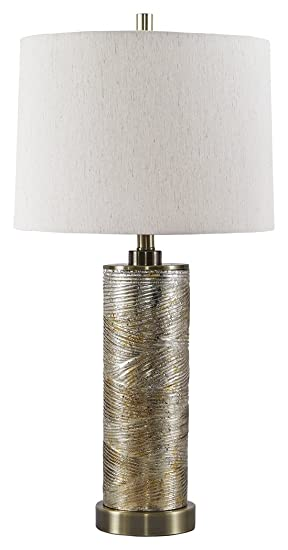 Signature Design by Ashley – Farrar Table Lamp – Modern – Gold Finish