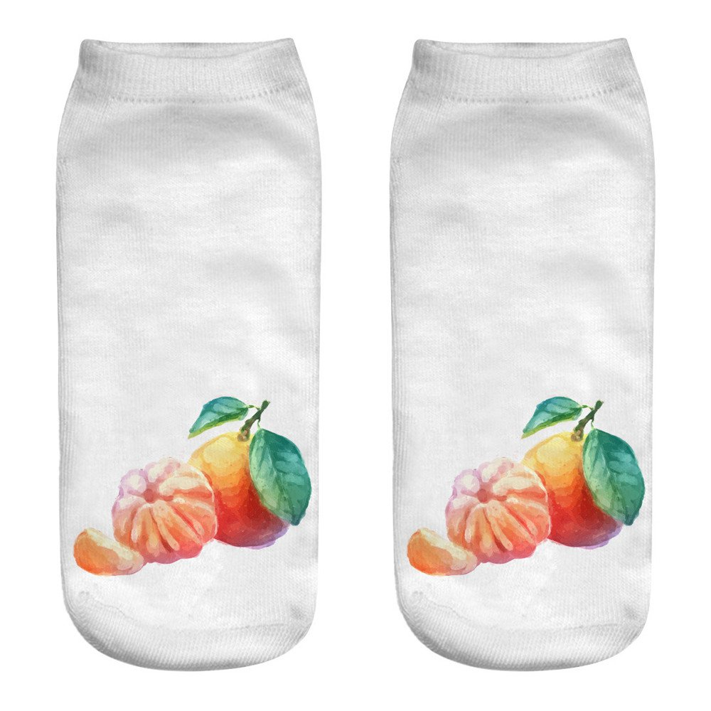 YOMXL 3D Printed Fruit Socks for Women Girls - Casual Cotton Cute Sports Crew Socks Compression Ankle Socks