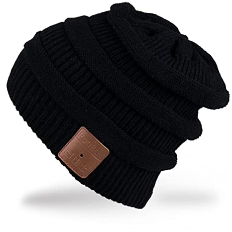 Rotibox Cappello con cuffia bluetooth integrata senza fili - Nero ... 499eac8e0032