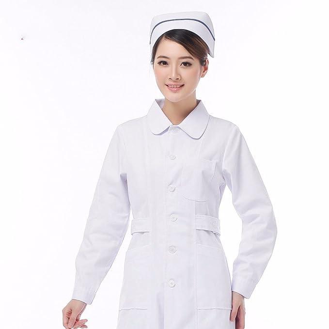 Xuanku Las Enfermeras Llevar Mangas Largas, Ropa De Invierno De Modelos, Azul, Médico