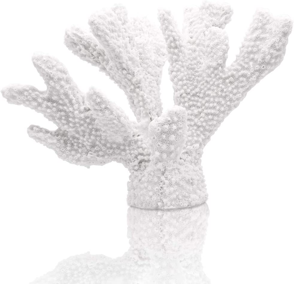 ALIWINER White Coral Statue Resin Coral Tabletop Decoration Realistic Faux Branch Coral Sculpture Home Decoration Beach Theme Party Wedding Decor Window Display 5.9''