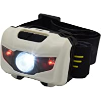 LOYALSEA LED Brightest Headlamp with Red Light for AdultKids - Stylish Bright Waterproof Runners Headlamps for Running Kit Best Outdoor Gear Exploring Products CampingClimbing and Walking(White)