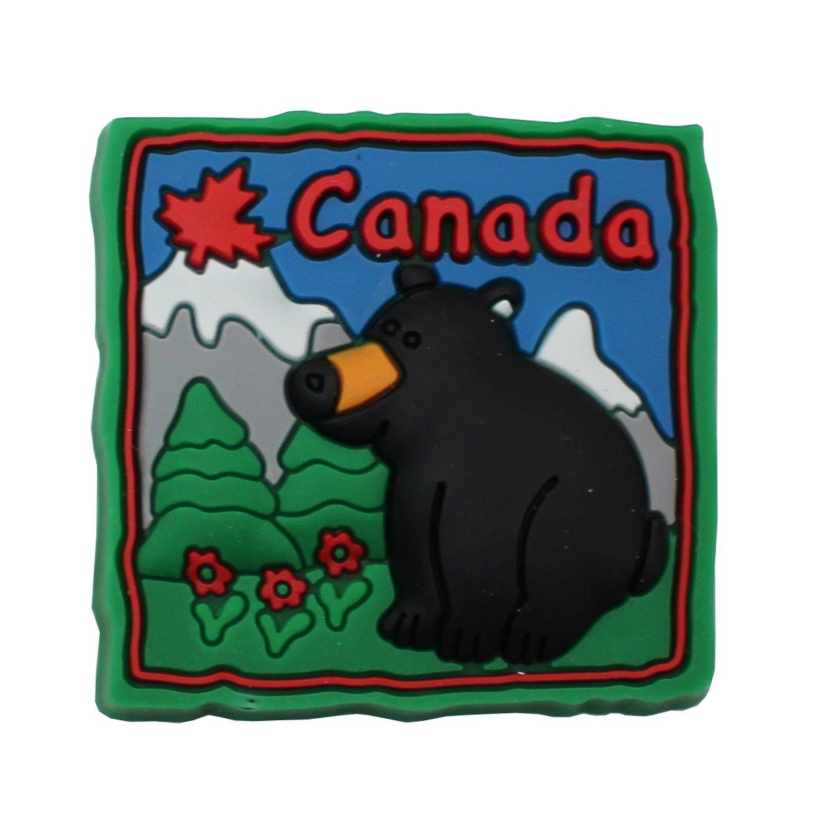 Rubber Canadian Fridge Magnet (Moose Canada, 12) NWI