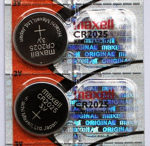 CR2025 Maxell Micro Lithium Cell Battery for Watches and Electronics - 10 Pack