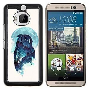 Jordan Colourful Shop - Night Owl For HTC One M9+ / M9 PLUS Personalizado negro cubierta de la caja de pl????stico