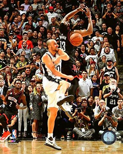 Manu Ginobili San Antonio Spurs 2017 NBA Playoff Action Photo (Size: 8