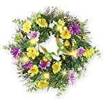 Collections-Etc-Lighted-Hummingbird-and-Morning-Glories-Wreath