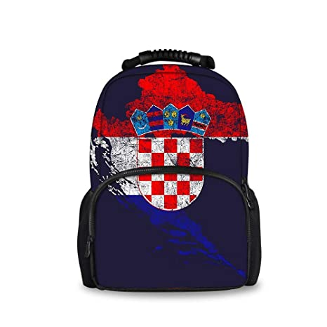 24e8467998bc Amazon.com: JACINTAN Croatia Flag Map Printed Children School Bags ...