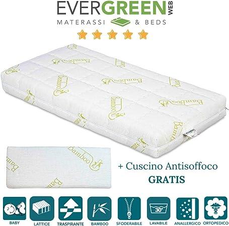Materassi Su Misura Lattice.Evergreenweb Materasso Per Bambini 60x125 In Lattice 100 X
