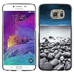 Stuss Case / Funda Carcasa protectora - Pebbles Beach Sky Sand Water Ocean - Samsung Galaxy S6 SM-G920
