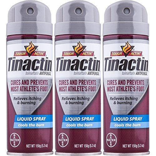Tinactin Athletes Foot Liquid Spray 5.3 oz (Pack of 3) (Liquid Tolnaftate Antifungal Spray Foot)