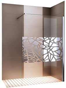 Mampara Walk de en nano EchtGlas EX101 – Espejo patrón centrada ...