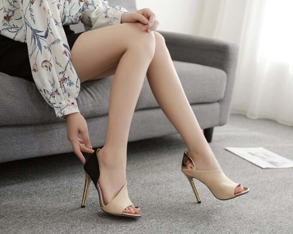 Onfly Donna Pump 11.5cm Stiletto Stiletto Stiletto Peep Toe D'orsay Sandali Scarpe da sposa Dolce Colorematch Dress scarpe OL Court scarpe Scarpe da partito Eu Dimensione 34-40 (Colore   Beige, Dimensione   35) cac6be