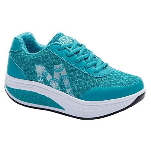 Mujer Zapatos Daytwork Plataforma Gimnasio Cuñas Ligero Sneakers Atlético Deporte Peso Caminar Informal Adelgazar De Malla Zapatillas Ok8nw0P