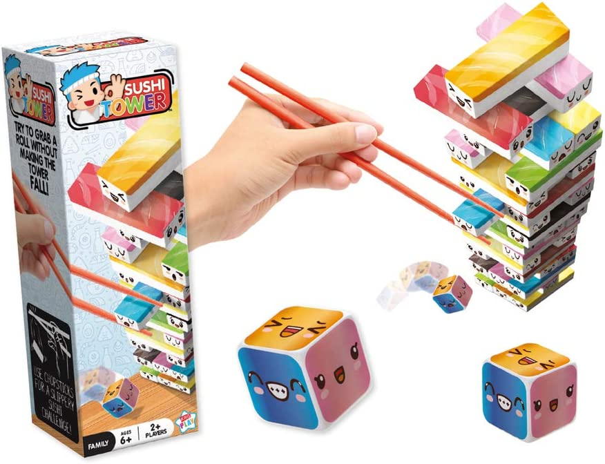 Sushi Tower Game Try To Grab A Roll Without Making The Tower Fall