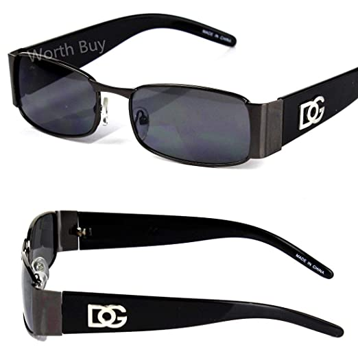e34088b96acbd Amazon.com  New DG Mens Womens Rectangular Designer Sunglasses Shades Retro  Fashion Vintage  Clothing