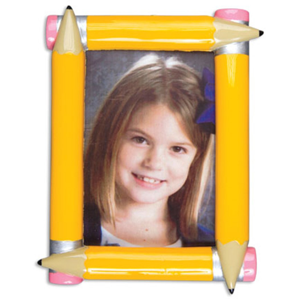 Personalized Pencil Picture Frame Christmas Ornament 2018 - Momentous Occasion First Day School Photo Display Kindergarten 1st Elementary Daycare Student Milestone Memory - Free Customization by Elves