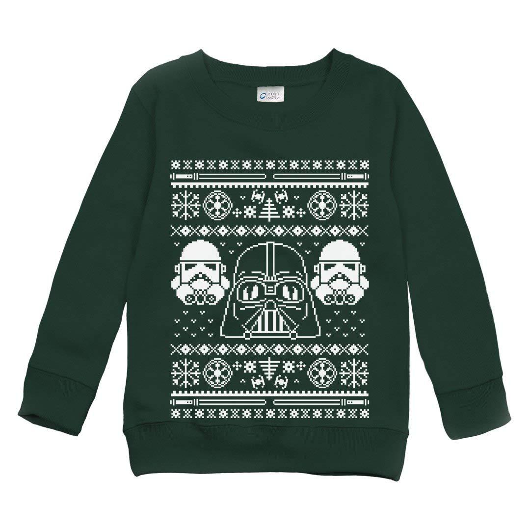 A Little Festive Force: Youth Port & Company Crewneck Sweatshirt 2808219-$P
