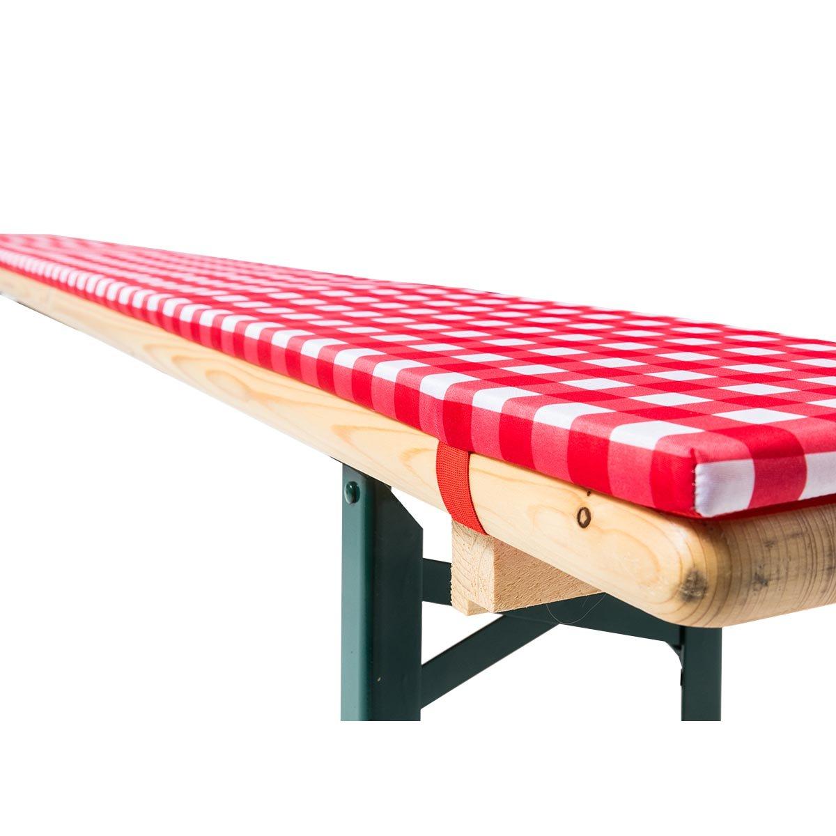 set di imbottiture Annabelle Gr/äfenstayn larghezza del tavolo di 70 o di 50 cm per i mobili da birreria con 3 cuscini con certificazione /Öko-Tex Standard 100