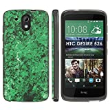 [Mobiflare] HTC Desire 526 TPU Silicone Phone Case [Black] Ultraflex Thin Gel Phone Cover - [Green Marble] for HTC Desire 526 [4.7