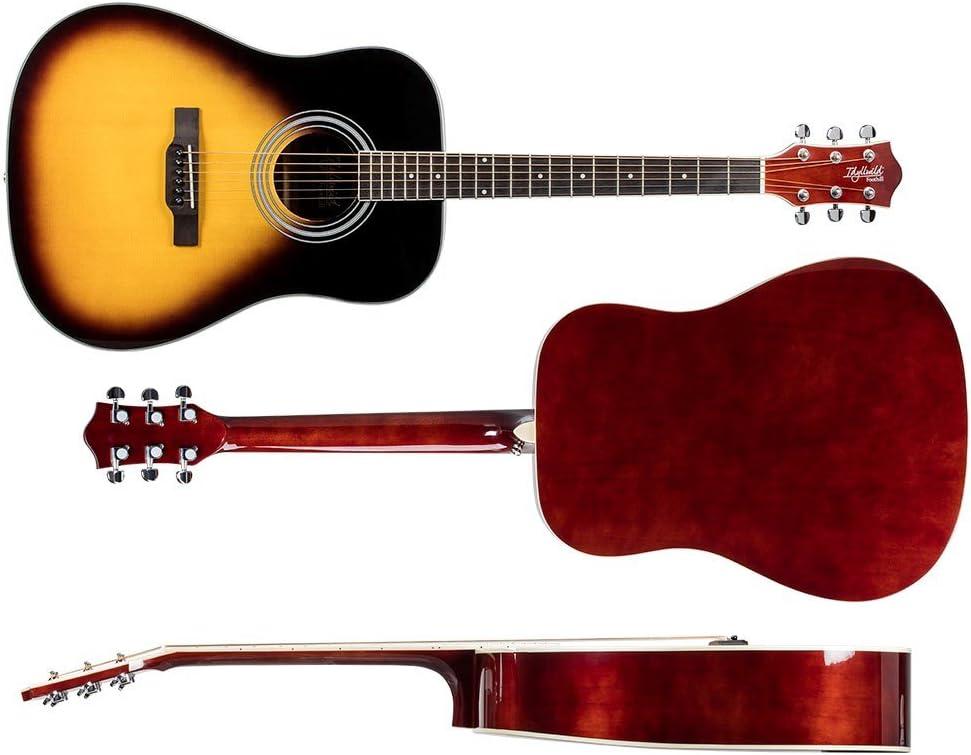 Monoprice 6 String Idyllwild Foothill Acoustic Guitar with Gig Bag 610013 Vintage Sunburst