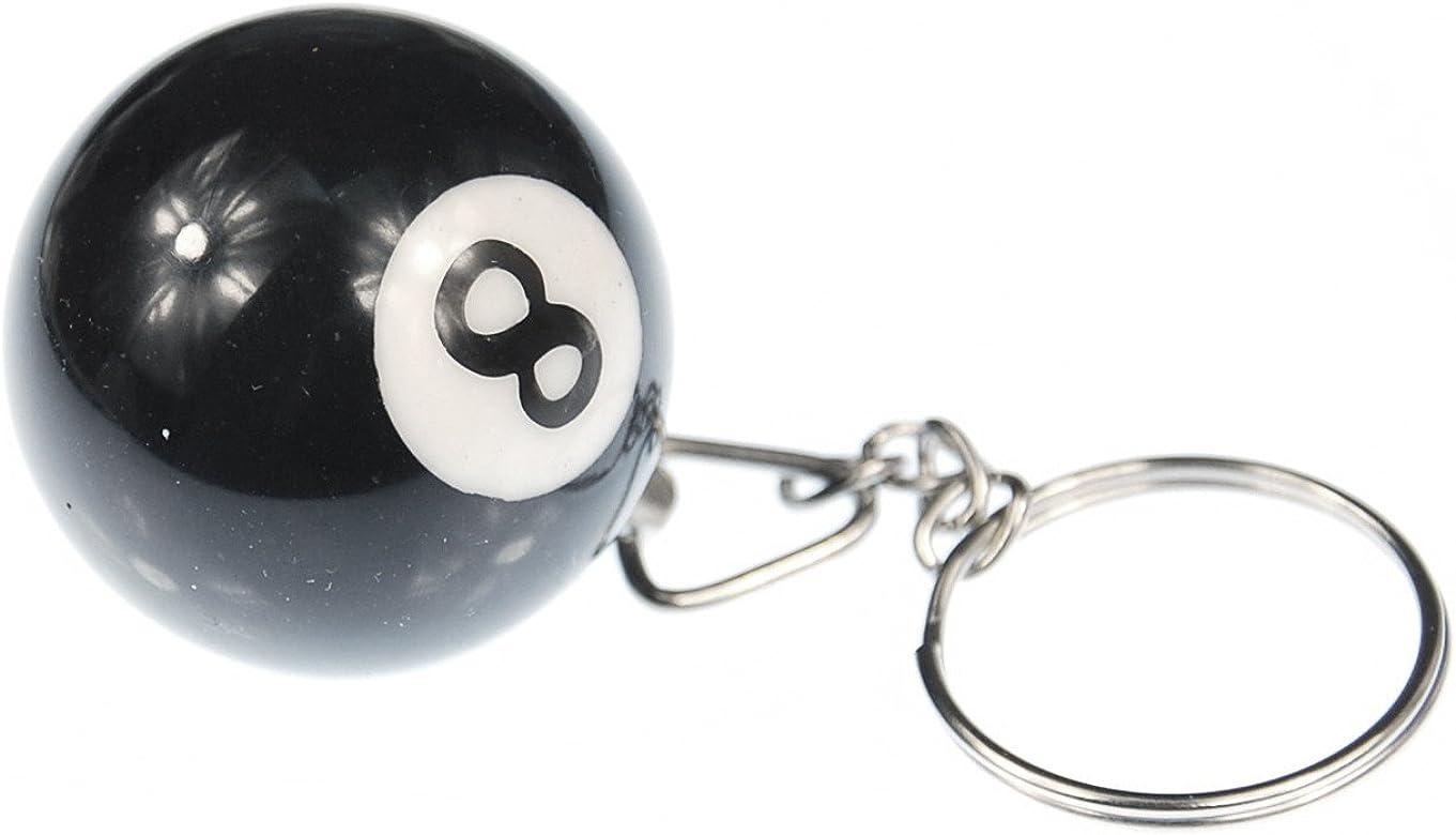 Miniblings llaveros Billar Bola de Billar Conjunto de Claves Negro ...