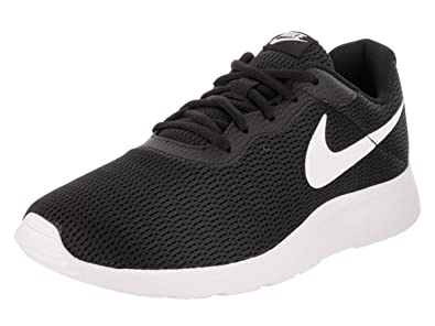 4f40d1aded3 Image Unavailable. Image not available for. Color  Nike Men s Tanjun Wide  (4E) Black White Black Running Shoe ...