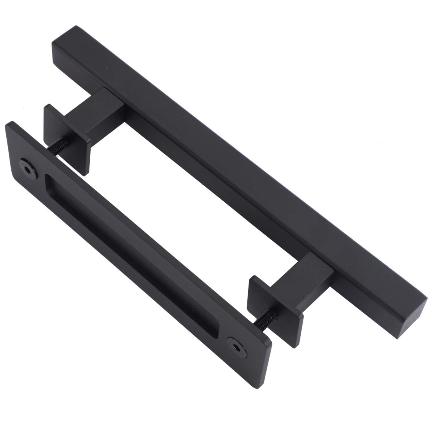 EaseLife 2Pcs 12'' Sliding Barn Door Handle with Pull Flush Set,for Gate Kitchen Furniture Cabinet Closet 2/Pack,Square by EaseLife (Image #6)