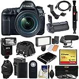 Canon EOS 5D Mark IV 4K Wi-Fi Digital SLR Camera & 24-70mm f/4L IS USM Lens + 128GB CF Card + Battery & Charger + Grip + Case + Flash + LED Light + Mic Kit