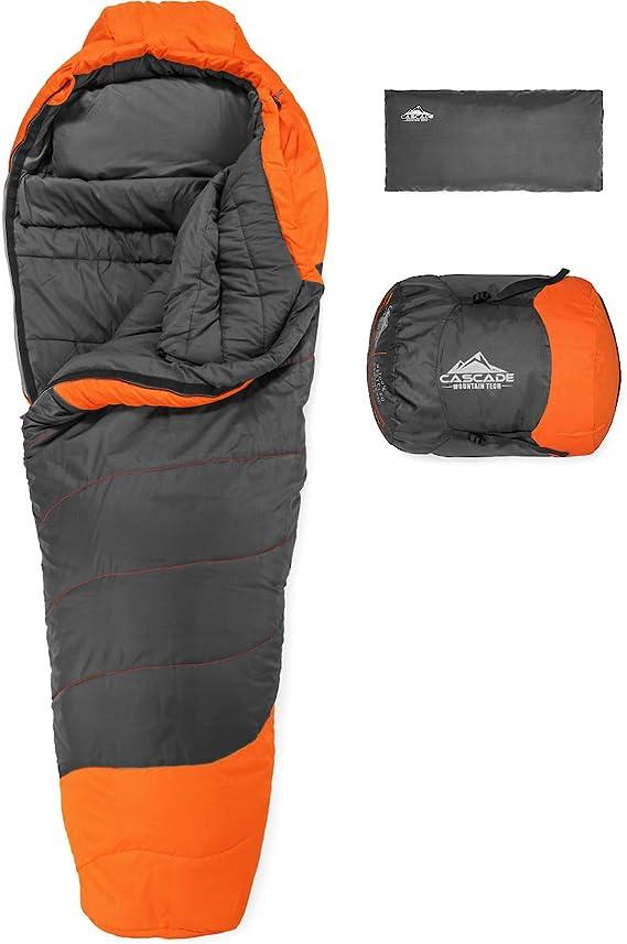Cascade Mountain Tech Adventure Mummy Sleeping Bag - Lightweight