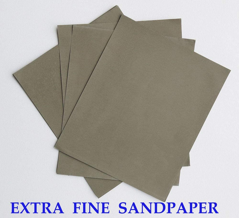 "Sandpaper Wet Dry 18 pc 3/"" X 5 1//2/""  Sheets 1500 grit"