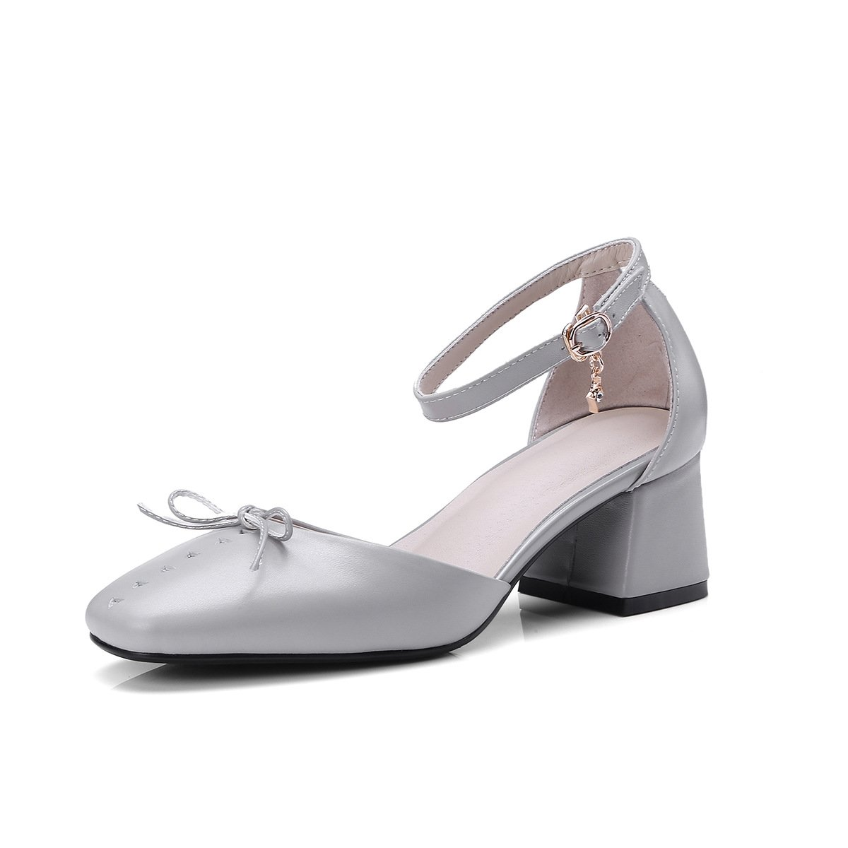 JING Sandales B06XGS4N55 Sandales féminines Chaussures JING Femmes Cuir Creux Doux tirant à Créneaux en Noeud Papillon à la Taille de l audacieuse Femme Code Sandales gray 49cac7a - epictionpvp.space