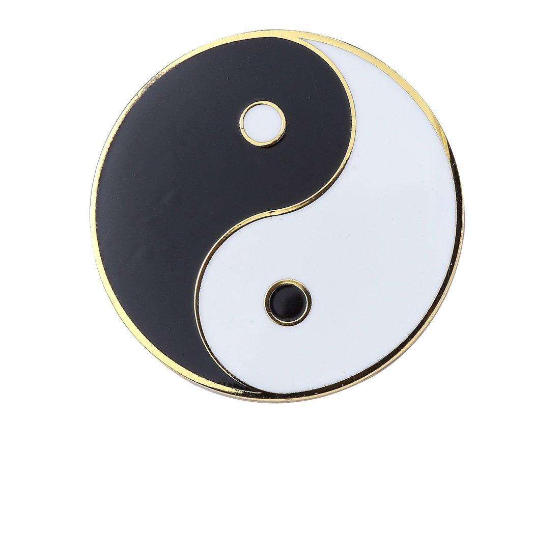 Last Valentine Yin Yang Tai Ji Lapel Pin Nickel Plated Color Enamel Pin